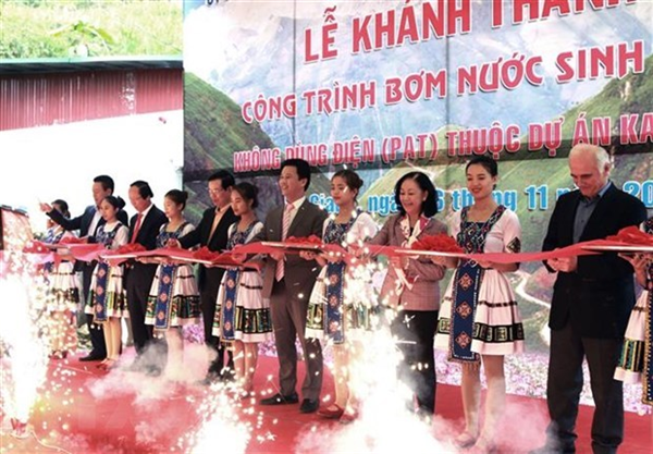 German-funded project brings water to residents in Dong Van Karst Plateau